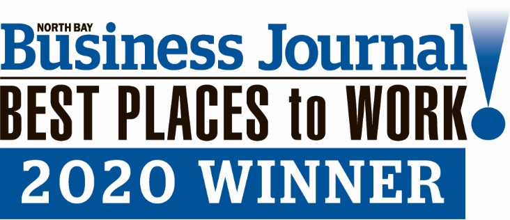 North Bay Business Journal Best Places to Work 2020 Winner